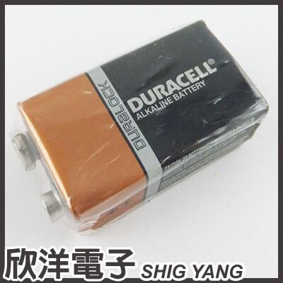※ 欣洋電子 ※ DURACELL 金頂 9V鹼性電池 (1入)無吊卡環保包裝
