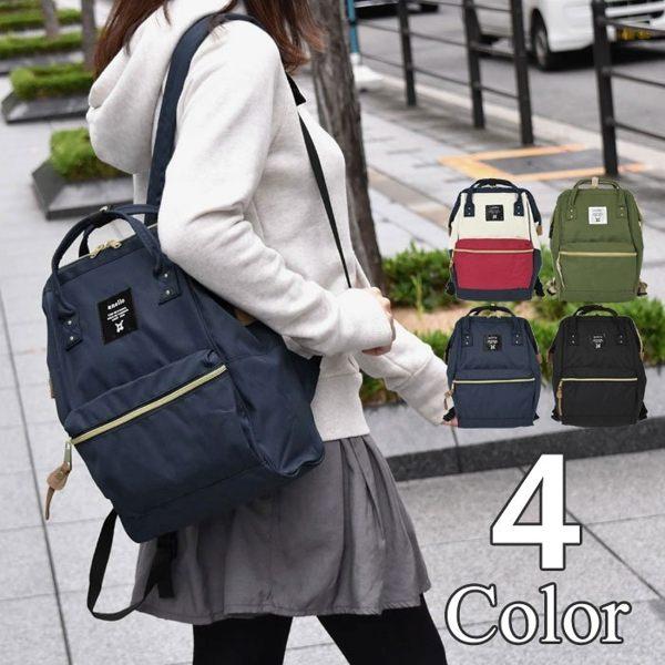 日本直送 新款二代 Anello S size 大口包 /後背包 超大容量 經濟又實惠  (S 號)