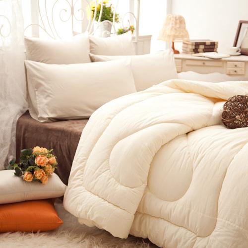 棉被 / 單人 [100%澳洲鈕西蘭純羊毛冬被] 洗淨碳化 ; 安心檢驗枕 ; 翔仔居家台灣製