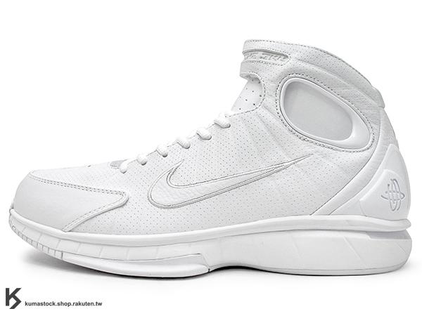 2016 退休紀念包 經典籃球鞋款 重新復刻 NIKE AIR ZOOM HUARACHE 2K4 FTB FADE TO BLACK 全白 黑曼巴 FLYWIRE 碳纖維版 氣墊 輕量化 籃球鞋 Kobe Bryant 強力著用 (869610-111) !