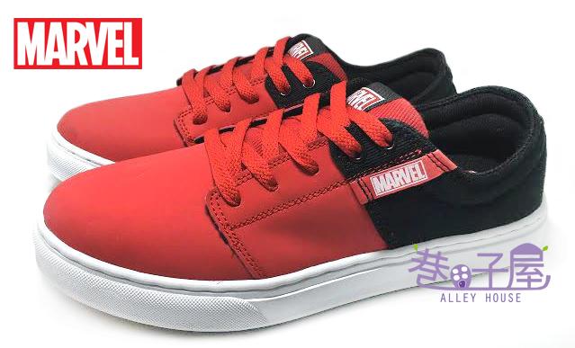 【巷子屋】MARVEL 英雄系列 復仇者聯盟 男款配色車縫底運動滑板鞋 [43902] 紅 超值價$398