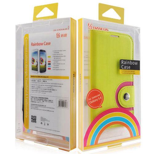 ☆Baseus 倍思彩虹系列 Samsung s4 i9500 超薄手機皮套 皮套 保護套 保護殼【清倉】