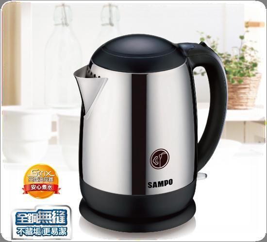 ◤A級福利品‧數量有限◢ SAMPO 聲寶 1.5L 全不鏽鋼廣口易潔快煮壺 KP-PC15C