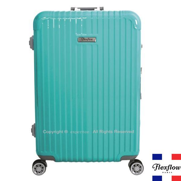 【騷包館】Flexflow 羅亞爾旅人  22吋 世界第一智能秤重鋁框飛機輪行李旅行箱 蒂芬妮綠 FLG16PRL22