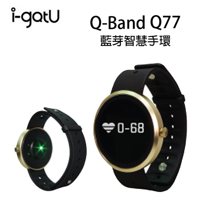 【PC-BOX】 i-gotU Q-Watch HR  藍牙腕式心率智慧健身手錶 - Q-77HR (42mm) Q77HR
