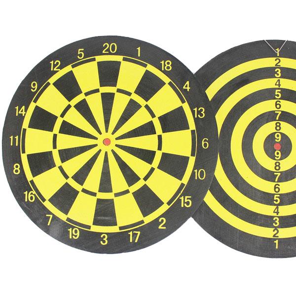 15吋飛鏢盤 直徑38cm 雙面針式飛鏢靶 飛標盤 P-316(附針標4支)/一個入{促100} 家用遊戲飛鏢靶~群