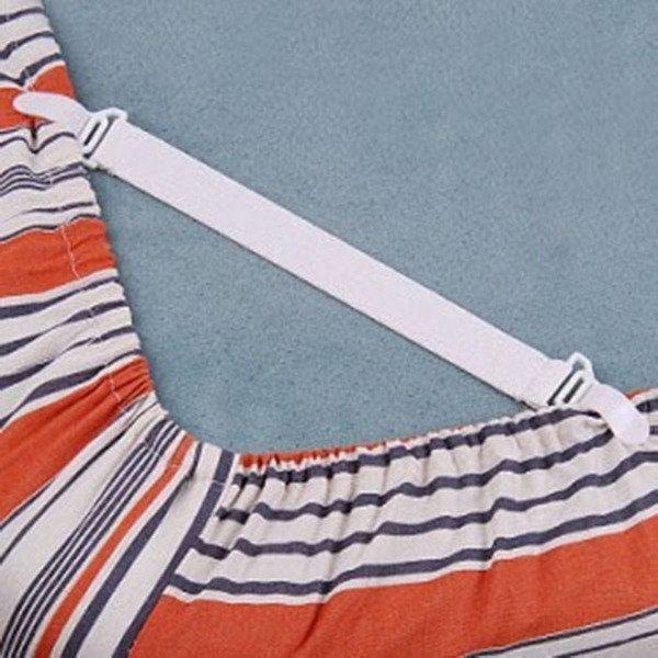 BO雜貨【SV9503】防止床單滑落 4入 多用途床單固定器 棉被鬆緊帶 床單床罩床組床套固定扣 彈力帶