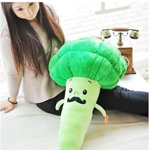 美麗大街【1105030407】12吋花椰菜 花椰菜抱偶 創意蔬菜娃娃