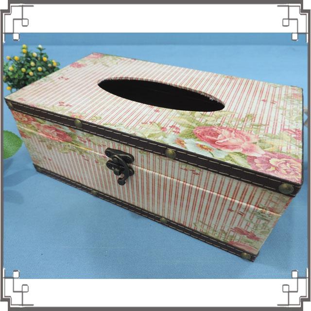 木製帆布面紙盒《PA11》鄉村玫瑰木製面紙盒 居家布置 新居落成 送禮◤彩虹森林◥