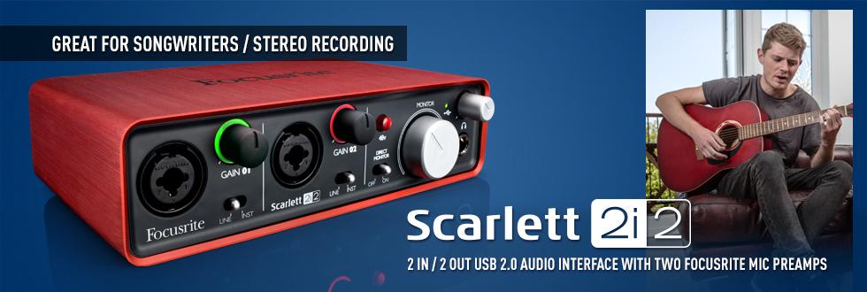 FOCUSRITE SCARLETT 2i2 USB 錄音介面