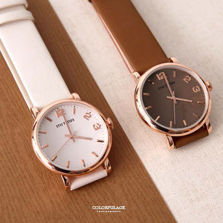 手錶 玫瑰金框多色腕錶 姐妹 朋友對錶 柒彩年代【NE1933】單支