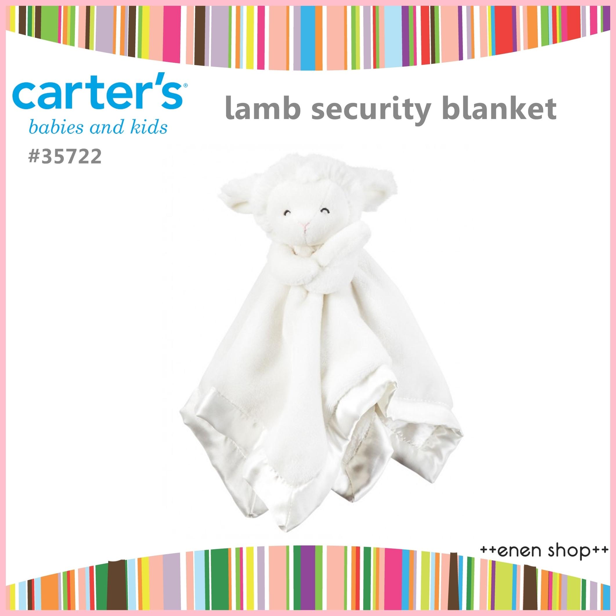 Enen Shop @Carter's 可愛綿羊/羊咩咩安撫巾/安撫毛巾 #35722  新生兒/彌月禮