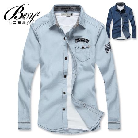 ☆BOY-2☆【NZ97001】韓版牛仔單寧長袖襯衫