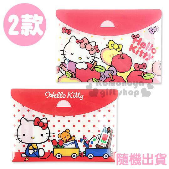 〔小禮堂〕Hello Kitty 便條紙《2款.隨機出貨.紅/粉.玩具車/蘋果》18 款圖案.附收納袋