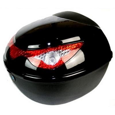機車置物箱 後尾箱-雙層防水鷹眼造型反光警示摩托車用品5色73q4【獨家進口】【米蘭精品】