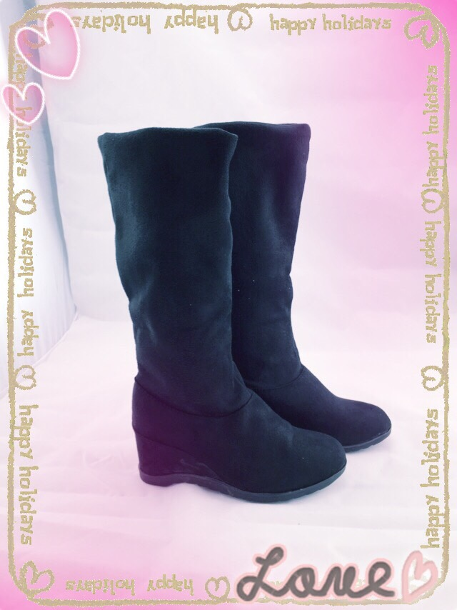 【TwinsLady】百搭高筒靴 黑色