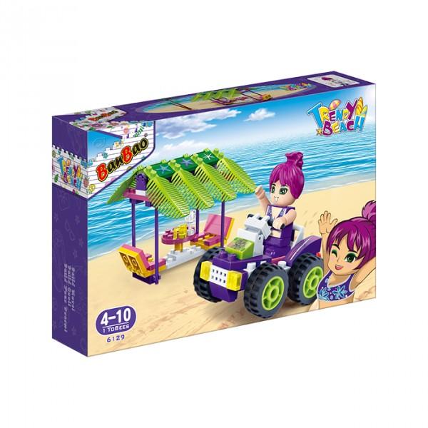 【BanBao 積木】沙灘女孩系列-休憩區 6129  (樂高通用) (單筆訂單購買再加送積木拆解器一個)