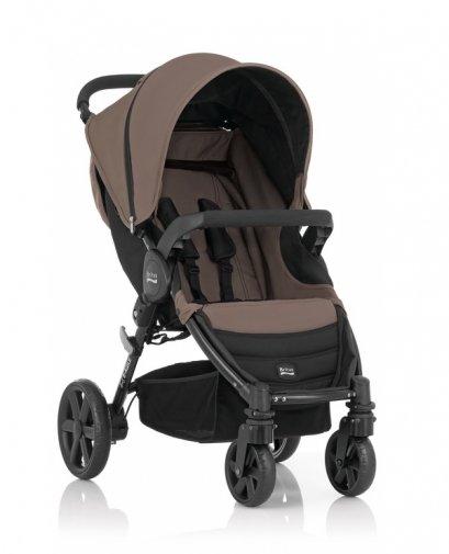 Britax - B-Agile單手收豪華四輪手推車 (咖啡) 加購Britax - Baby-Safe提籃享特價優惠!