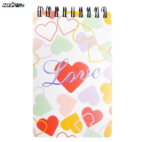 HFPWP 甜蜜愛心 口袋型筆記本100張內頁附索引尺台灣製 PHN3351 / 本