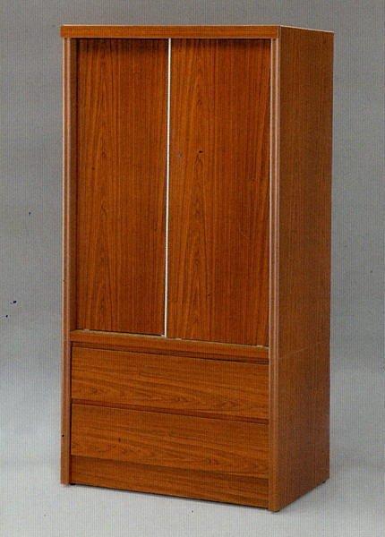 【尚品家具】☆特別優惠☆637-07 柚木色 3x6 推門衣櫥/衣櫃/收納櫃/櫥櫃~有四色