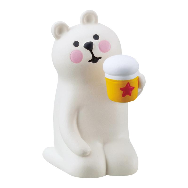 Decole日本擺設公仔 - Concombre 喝啤酒的北極熊 ( ZSV-87905 )