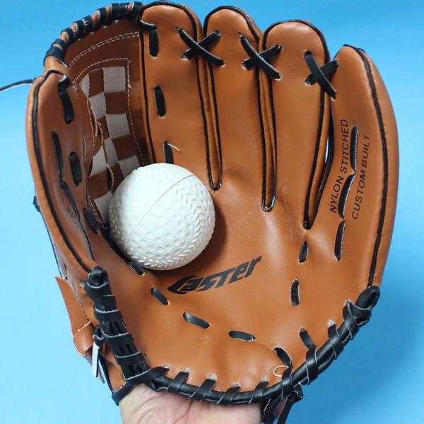 11吋合成皮棒球手套 + 軟式安全棒球(國小.國中適用)/一組入{促350}