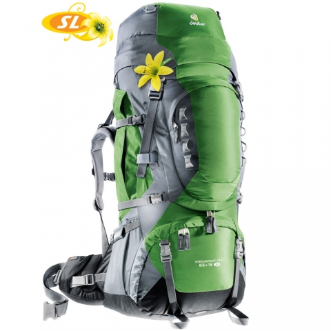 【露營趣】中和 送贈品 deuter 33833 Aircontact PRO 65+15L SL拔熱透氣背包 登山背包 自助旅行背包