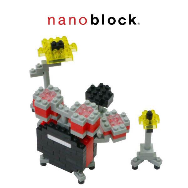 【Nanoblock 迷你積木】NBC-123 紅色爵士鼓