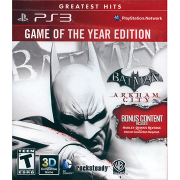 PS3 蝙蝠俠 阿卡漢城市年度合輯版 英日文美版(紅盒)