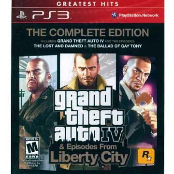 PS3 俠盜獵車手4 & 自由城故事 完整版 英文美版 GTA4 (紅盒)