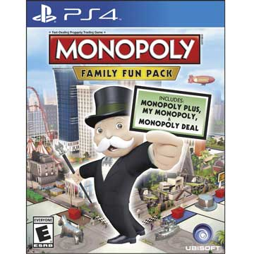 PS4 地產大亨:家庭歡樂包 英文美版 Monopoly Family Fun Pack 大富翁