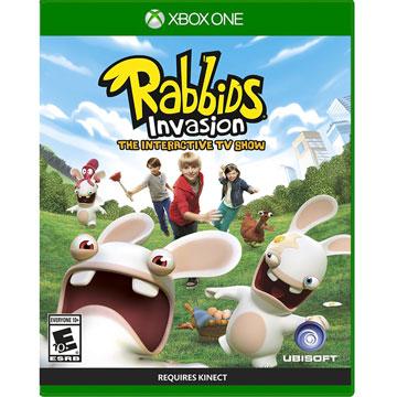 XBOX ONE 瘋狂兔子全面侵略 TV 互動遊戲 英文美版Rabbids Invasion KINECT