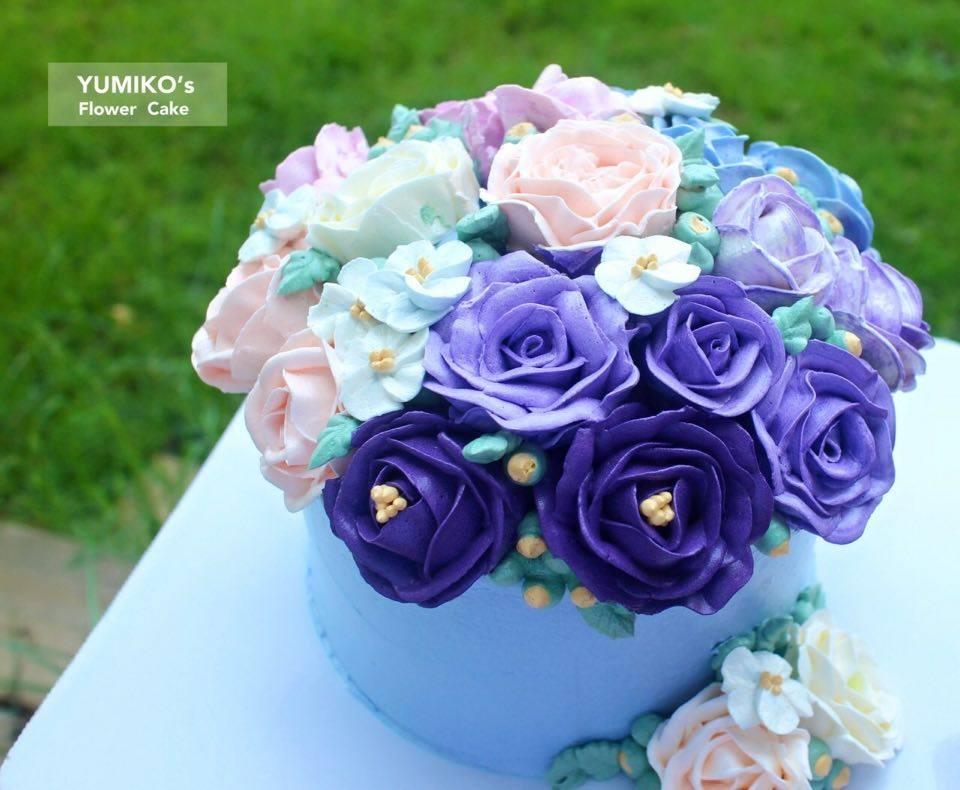 【 紫色浪漫捧花蛋糕】YUMIKOS CAKE 4吋/ 6吋