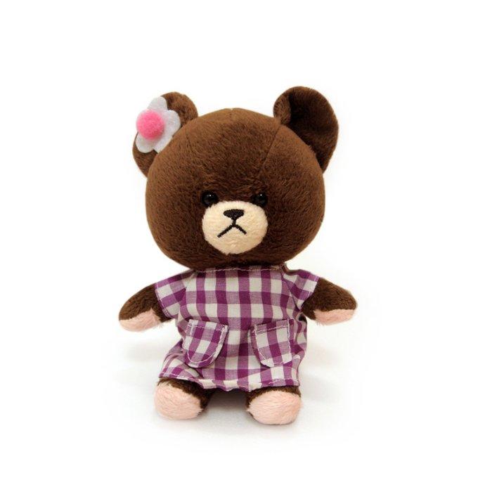 【禾宜精品】小熊學校 10 cm 傑琪 (紫色格紋洋裝) 吊飾 玩偶 療癒商品 生活百貨 B102032-K