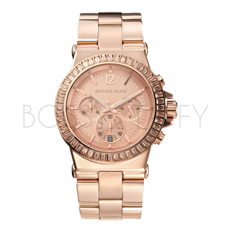 MK5412 MICHAEL KORS 玫瑰金時尚鑲鑽女錶