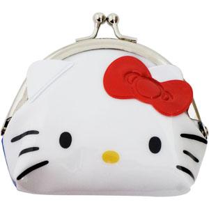 【真愛日本】16070800004鐵扣零錢包-KT亮膠造型大臉    三麗鷗Hello Kitty凱蒂貓 錢包 零錢包 收納包