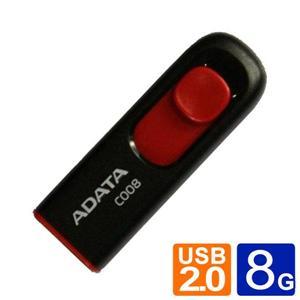 威剛 ADATA  C008 8GB 行動碟 藍白/黑紅兩款