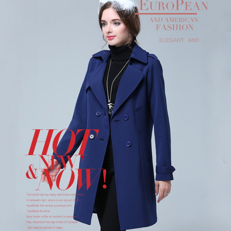 A2-306 歐美大尺碼 時尚OL翻領個性西裝軍裝外套大衣 XL~5XL