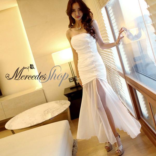 [現貨出清6折] 韓國連線露肩性感包臀洋裝禮服 - 梅西蒂絲