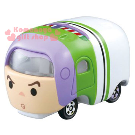 〔小禮堂〕迪士尼 TSUM TSUM 巴斯光年 TOMICA小汽車~白.可堆疊~ 值得收藏