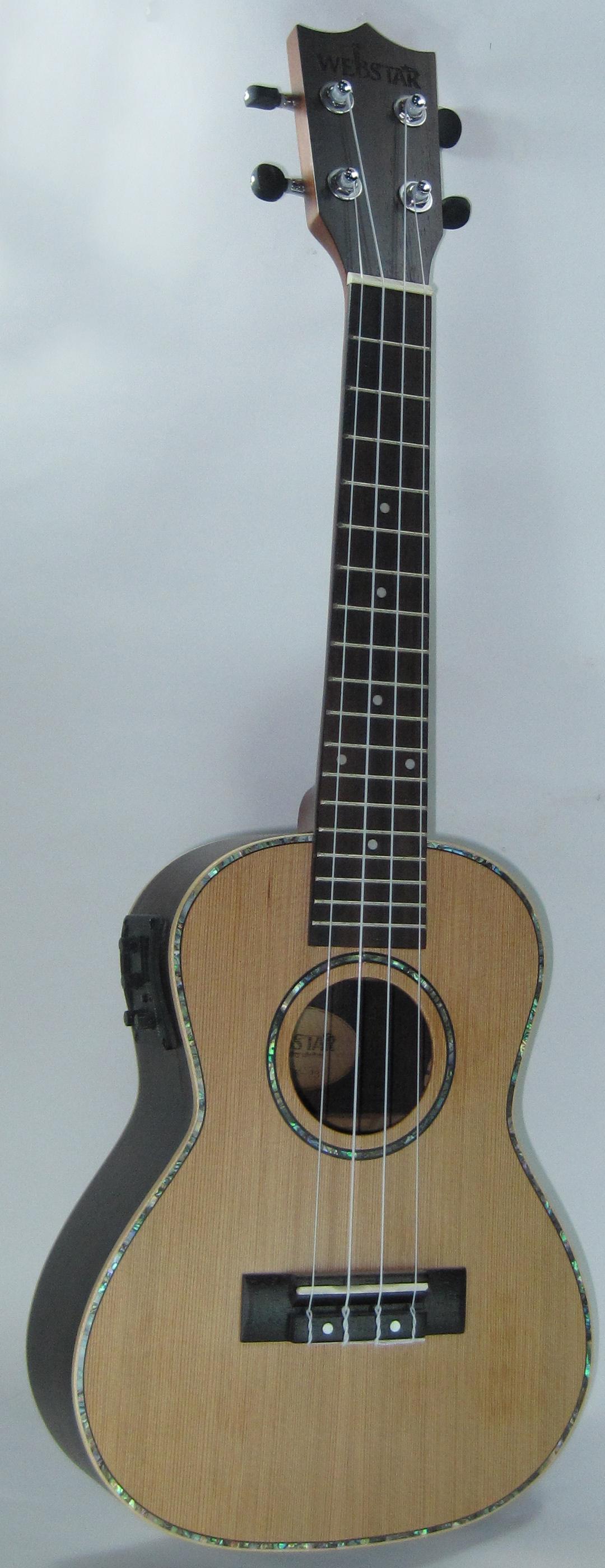 中和胡桃鉗樂器 23吋頂級紅松木面單電烏克麗麗。超級便宜又超頂級的烏克麗麗!