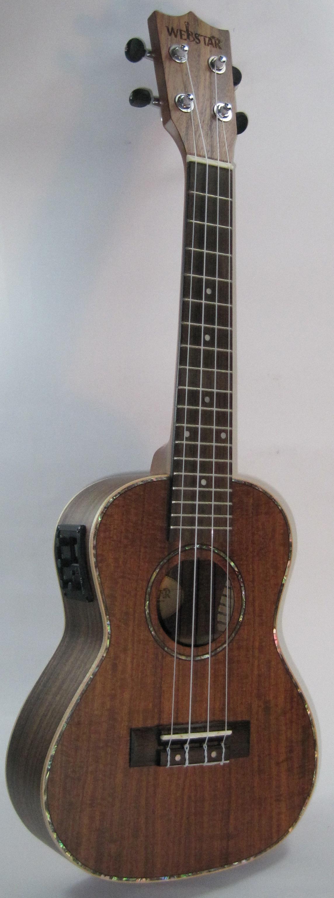 中和胡桃鉗樂器 23吋頂級相思木全單板電烏克麗麗。超乎你想像的便宜