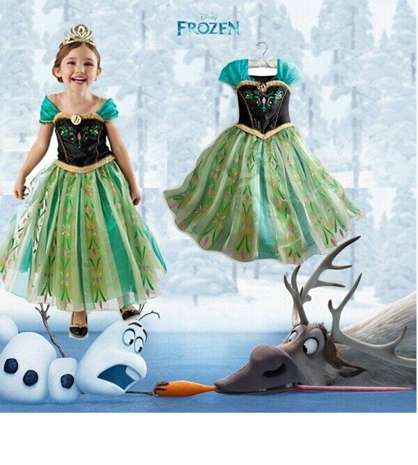 【貝貝樂SHOW】最IN 冰雪奇緣~Anna安娜公主最夯金絲絨洋裝長裙~90-130cm