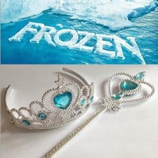 冰雪奇緣~洋裝公主系列必備配件.藍鑽石皇冠、手杖