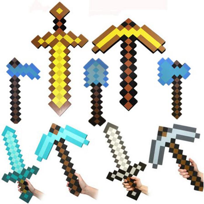 tangyizi輕鬆購【DS023】我的世界Minecraft官方EVA泡沫武器造型麥塊周邊爬行者保麗龍面具鑽石劍玩具(預購款10天)
