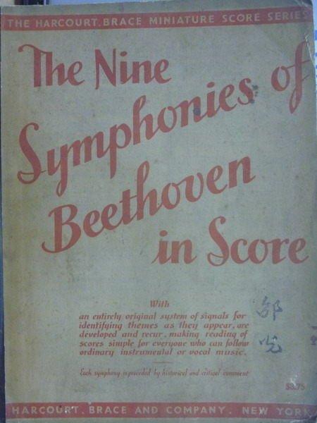 【書寶二手書T3/音樂_PAX】The Nine Symphonies of Beethoven in Score