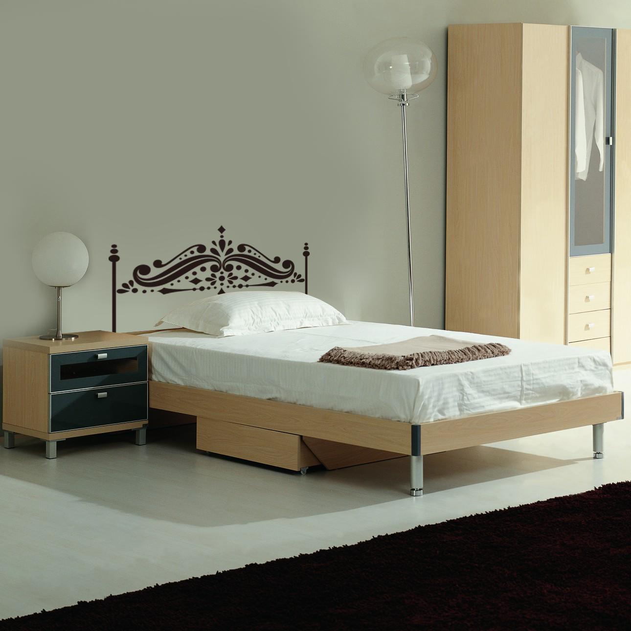 Attlee設計師-創意無痕壁貼.單人床頭板/床架 壁貼HDWS-10