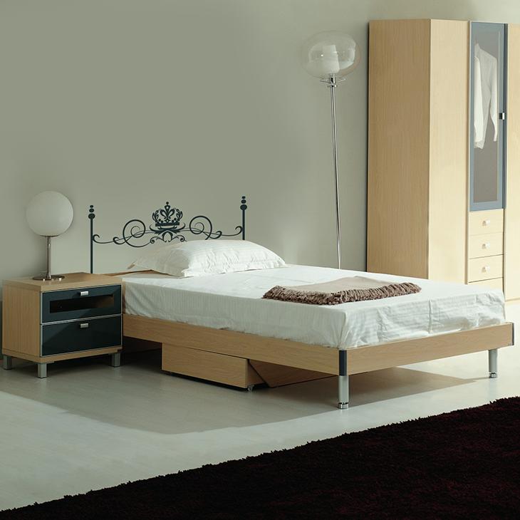 Attlee設計師-創意無痕壁貼.單人床頭板/床架 壁貼HDWS-06