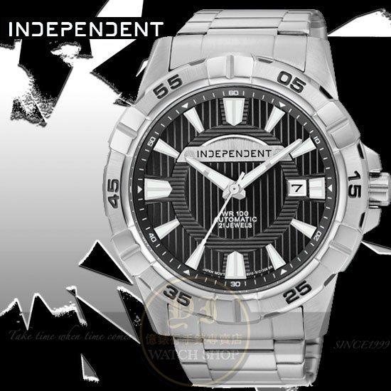 INDEPENDENT日本原創極限挑戰機械腕錶 -黑/44mm BJ4-311-51公司貨/星辰