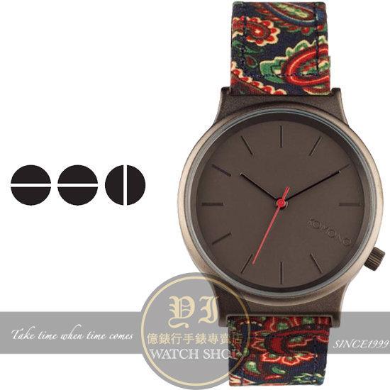KOMONO比利時設計品牌 WIZARD P PAISLEY 變形蟲塗鴉腕錶/37.5m KOM-W1824公司貨